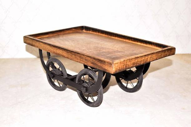 MODERNCOLLECTION Wood Cart Snack Serving Platter for Dining Table Tray