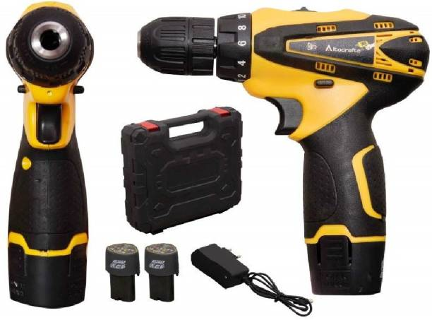 vipash VipASh Advance Cordless Light weight Drill machine With 15 mm Key less Chuck 12 V Cordless Drill/Screwdriver with 2 Batteries, LED Torch Variable Speed Amazing features DRL-005 Pistol Grip Drill