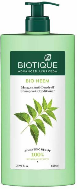 BIOTIQUE Bio Neem Margosa Anti-Dandruff Shampoo & Conditioner