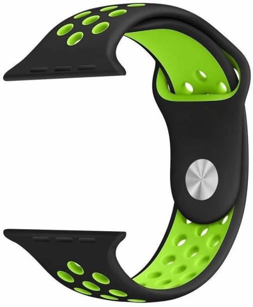 V-TAN PREMIUM REPLACEMENT iWATCH STRAP 38/40MM-BLACK & GREEN Smart Watch Strap