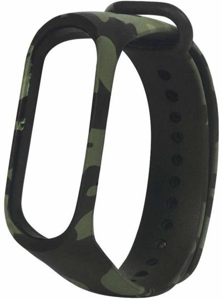 SheeShaa Army Military Replacement Silicone Strap for Xiaomi Mi Band 4 / Mi Band 3, Soft Silicone Mi3 Mi4 Band Fitness Sports Activity Bracelet Wristband Band 3/4 Watch Band M4 M3 Smart Band Strap
