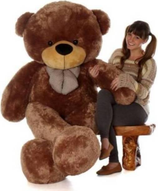 ToyKing 6 Feet Soft Spongy Hug-gable Jumbo Dark Brown Teddy Bear  - 181 cm