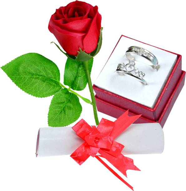 ME&YOU Greeting Card, Jewelry, Artificial Flower Gift Set