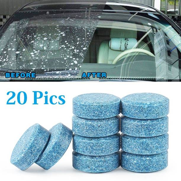 HSR 20pcs/1set Car Windshield Glass Cleaner Car Solid Tablets Wiper Fine Wiper Auto Window Cleaning Car Accessories Tablet Concentrate Vehicle Glass Cleaner