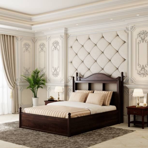 House of Pataudi Solid Wood Queen Hydraulic Bed