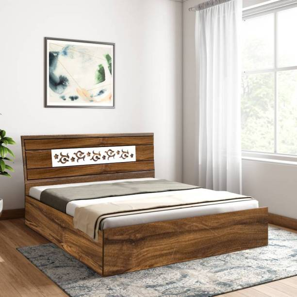 Bharat Lifestyle Oman Engineered Wood Queen Box Bed