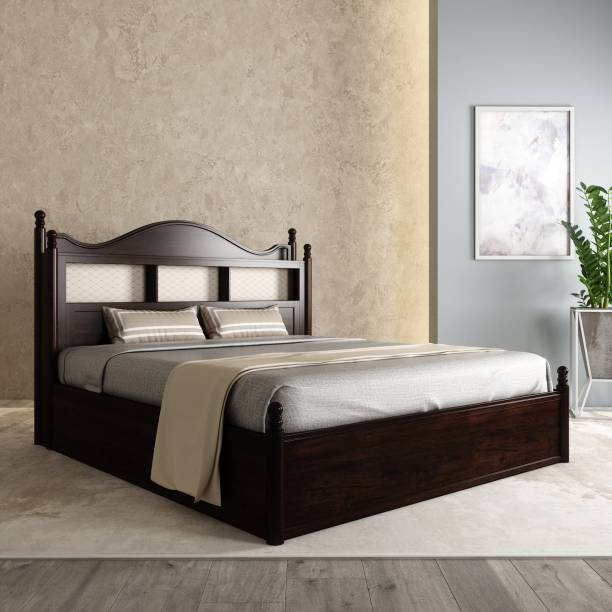 House of Pataudi Solid Wood King Hydraulic Bed