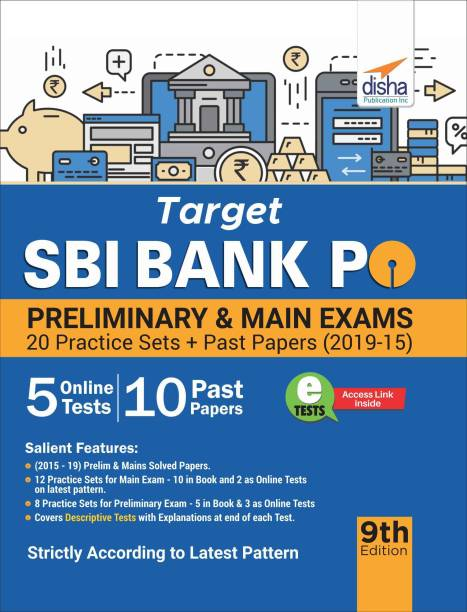 Target Sbi Bank Po Preliminary & Main Exam - 20 Practice Sets + Past Papers (2019-15)
