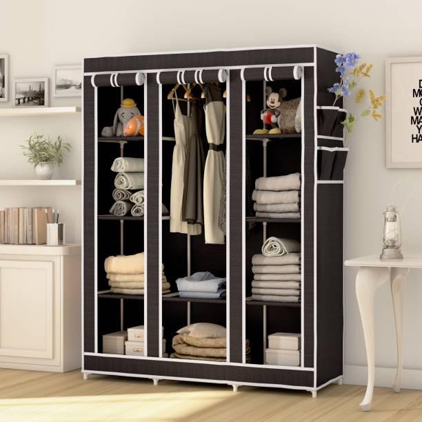 Flipkart Perfect Homes Studio 3 Door 10 Shelf PP Collapsible Wardrobe