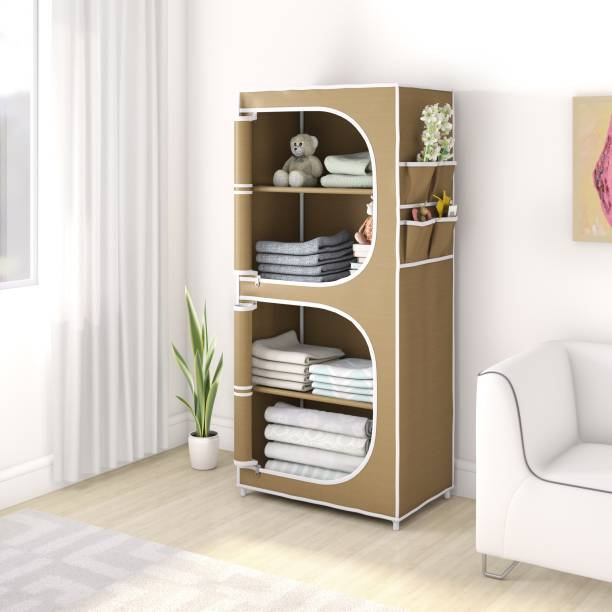 Flipkart Perfect Homes Studio 2 Door 4 Shelf PP Collapsible Wardrobe