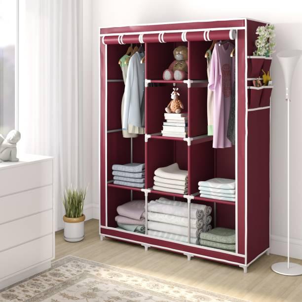 Flipkart Perfect Homes Studio 3 Door 8 Shelf PP Collapsible Wardrobe