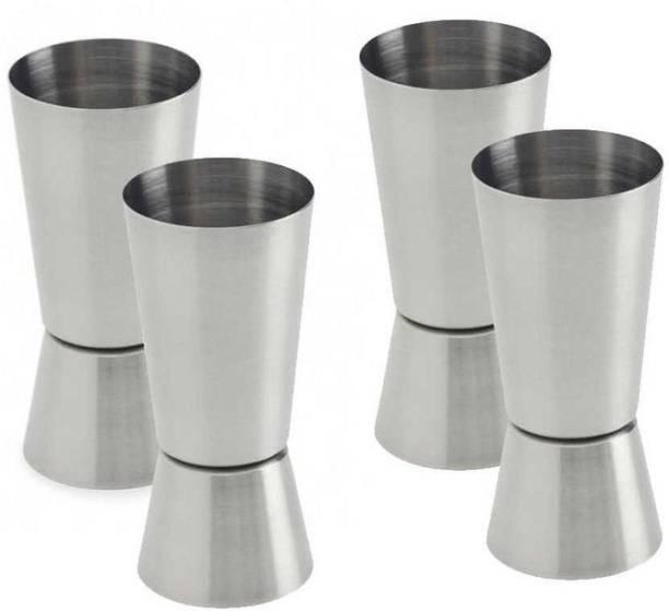 Ansh Double Side Peg Measure & Cocktail Shaker Drink Measuring Bar Tool Jigger 30/60ML Decanter
