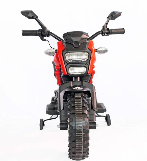 Ayaan Toys Himalyan Rechargeable Battery Operated Ride-On Bike for Kids (2 to 7 Yrs), Red Bike Battery Operated Ride On