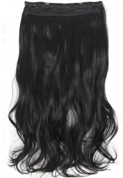 Alizz 5 Clip based natural black wavy Hair Extension