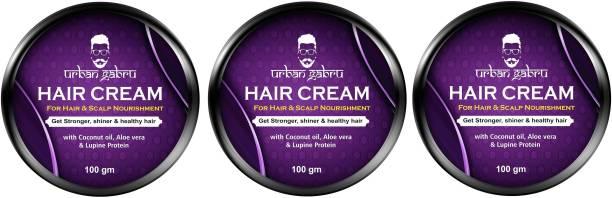 urbangabru Hair cream for medium hold & hair and scalp nourishment - daily use- Pack Of 3 Hair Cream