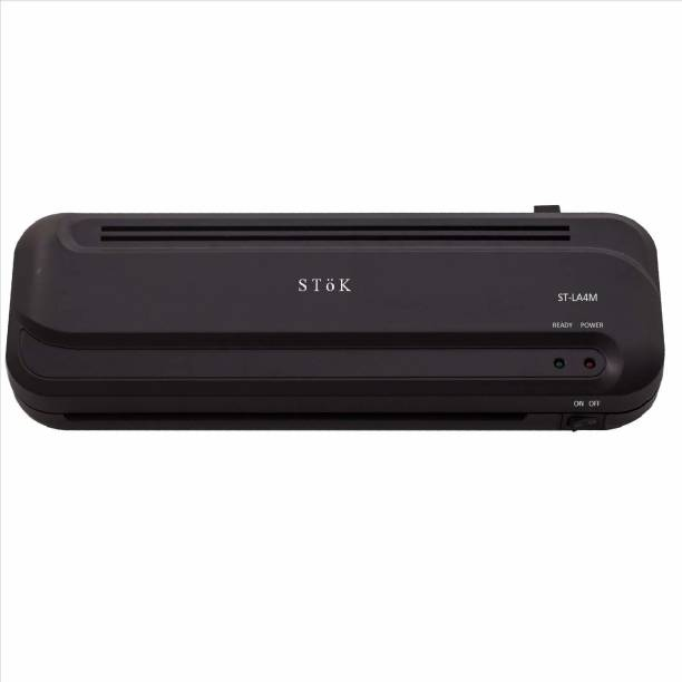 Stok Fully Automatic / A4 Laminator with Jam Release Button | Supports Hot & Cold Lamination 0.01 inch Lamination Machine