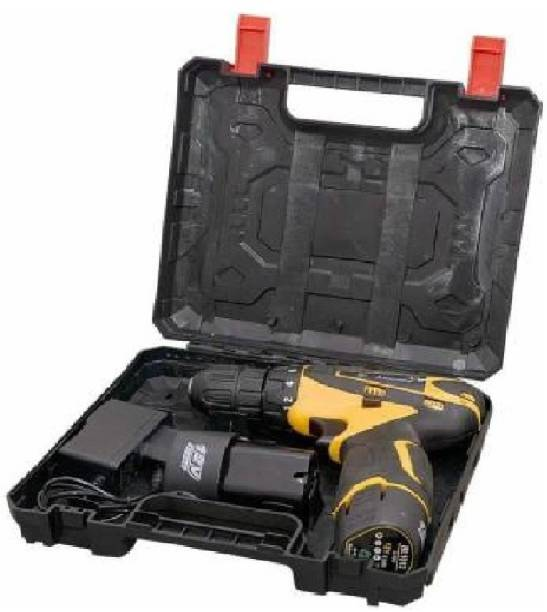 vipash VipASh Advance Cordless Light weight Drill machine With 15 mm Key less Chuck 12 V Cordless Drill/Screwdriver with 2 Batteries, LED Torch Variable Speed. DRL-004 Pistol Grip Drill