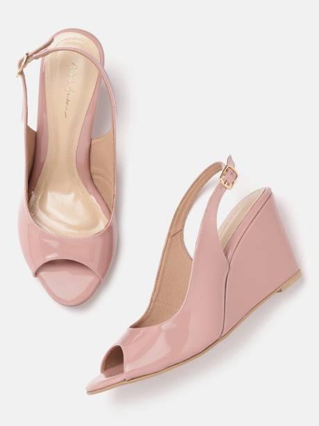 MAST & HARBOUR Women Pink Wedges