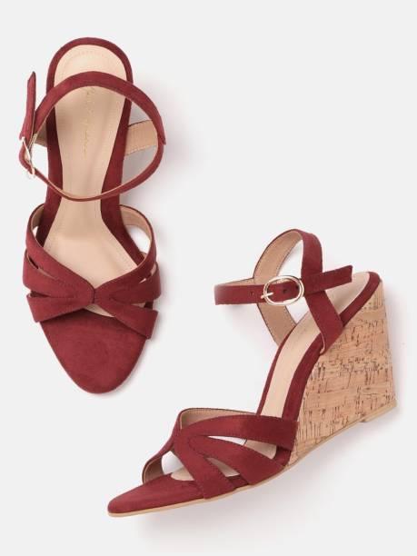MAST & HARBOUR Women Maroon Heels
