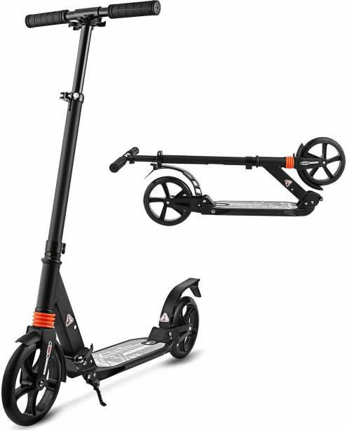 Jsk enterprise Heavy Metallic Jumbo Size 2 Wheel Height Adjustable Scooter with 200 mm Wheel for Kids and adults Kids Scooter
