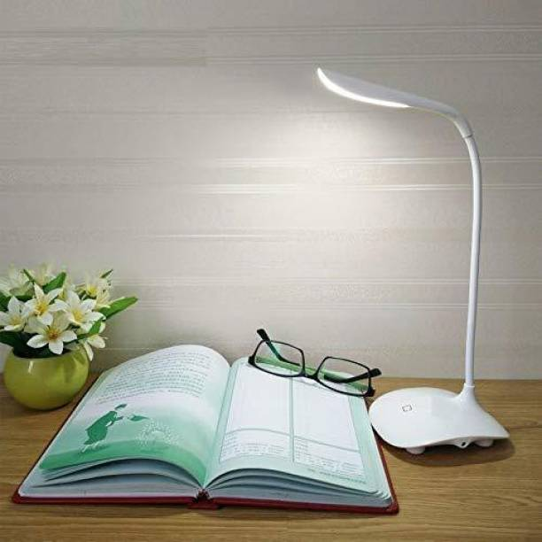 Ziggy Rechargeable LED Touch On/Off Switch Desk Lamp Children Eye Protection Student Study Reading Dimmer Rechargeable Led Table Lamps USB Charging Touch Dimmer(Desk Lights for Study) Study Lamp