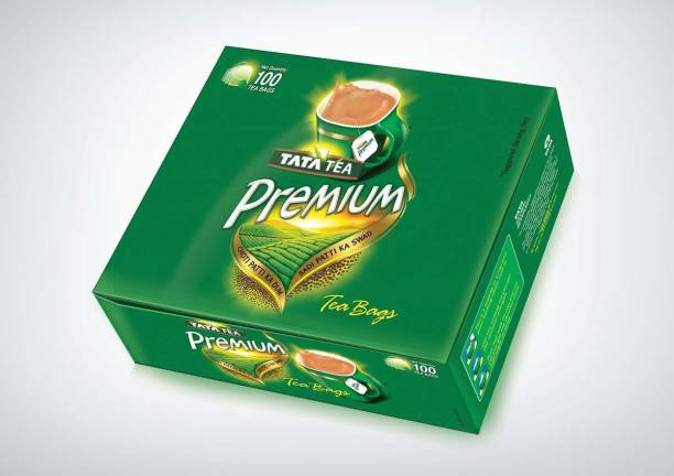 Tata Bags -100 Dips Pack Unflavoured Tea Bags Box