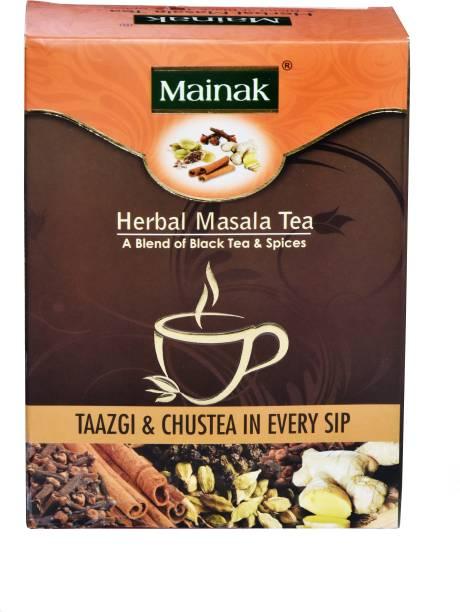 Mainak Herbal Masala Tea with Indian Spices Black Tea Box