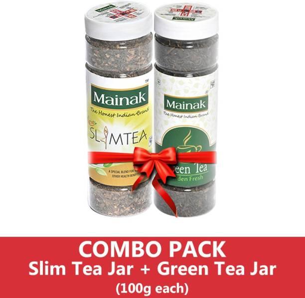 Mainak Slim Tea + Unflavoured Green Tea Plastic Bottle