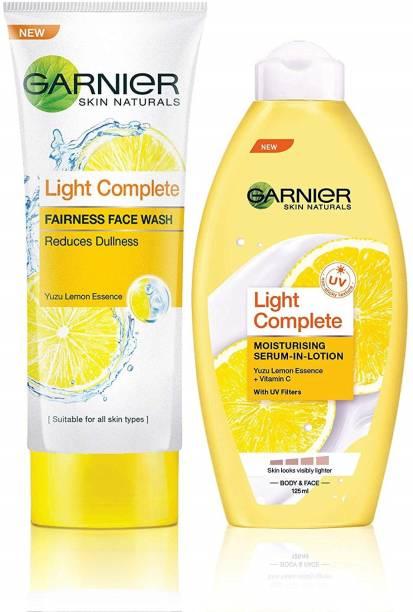 GARNIER Skin Naturals Light Complete Facewash & Skin Naturals Light Lotion
