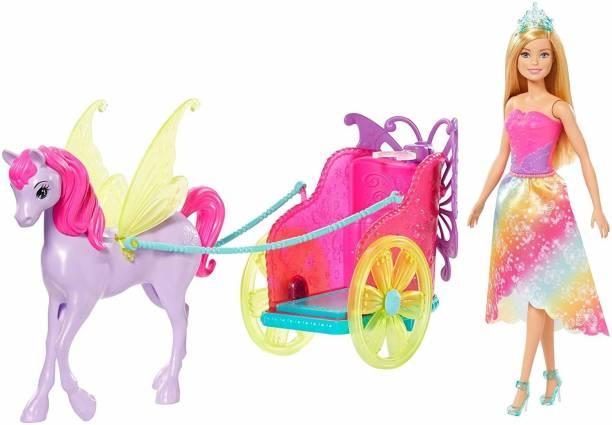 BARBIE Fantancy Vehicle - Dreamtopia Princess, Pegasus & Chariot