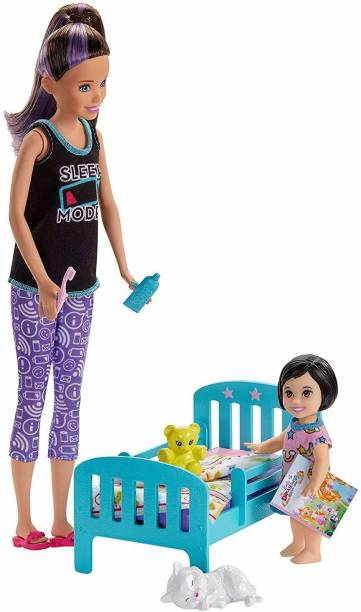 BARBIE Skipper Babysitters Doll And Bedtime Playset