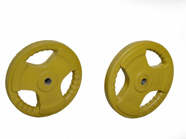 APPS SPORTS Gym Plates, Steel Weight Plates or Dumbbells plates for Home Gym Pack 7.5kg plate Yellow Weight Plate