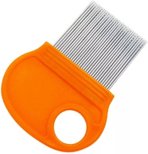 MAKHAI Magnifier Stainless Steel Comb for Head Lice, Nit & Egg Removal with Long Fine Metal Teeth