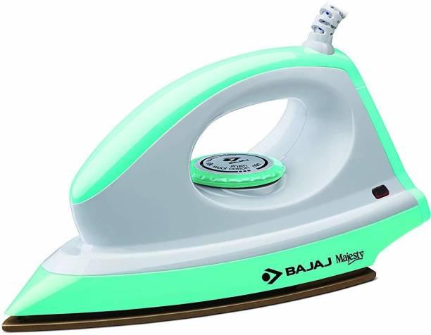BAJAJ Majesty Canvas green 1000 W Dry Iron (White and Green) 1000 W Dry Iron