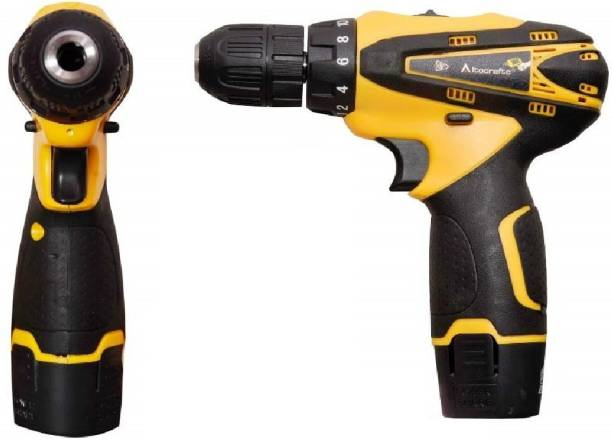 vipash VipSh Advance Cordless Light weight Drill machine With 15 mm Key less Chuck 12 V Cordless Drill/Screwdriver with 2 Batteries, LED Torch Variable Speed. DRL-003 Pistol Grip Drill