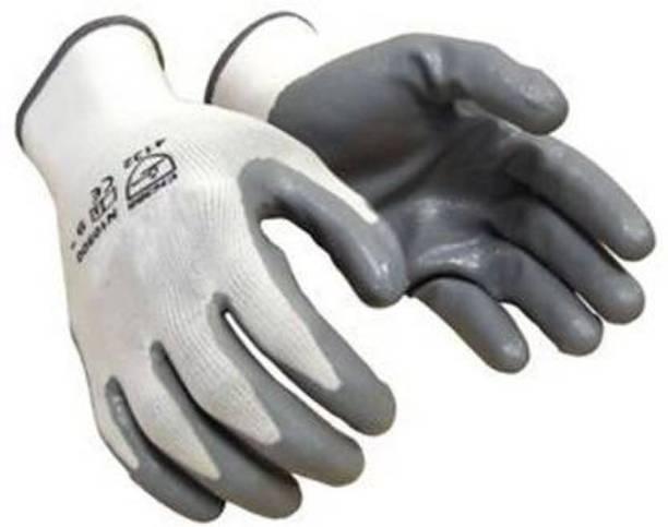 Safepro A3MTECH WHITE Shock Proof Gloves Nylon Safety Gloves Pair of 1 Nylon  Safety Gloves