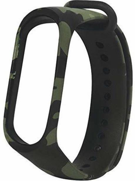 Delmohut Silicone Camouflage Army Style M3 and M4 Band Strap for Xiaomi Mi Band 3 & Mi Band 4 Smart Band Strap