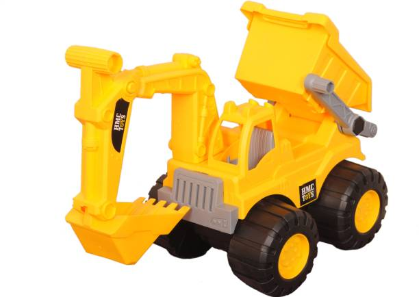 Smartcraft JCB Dig & Dump Construction Toy, Construction Truck Toy for Kids - Yellow
