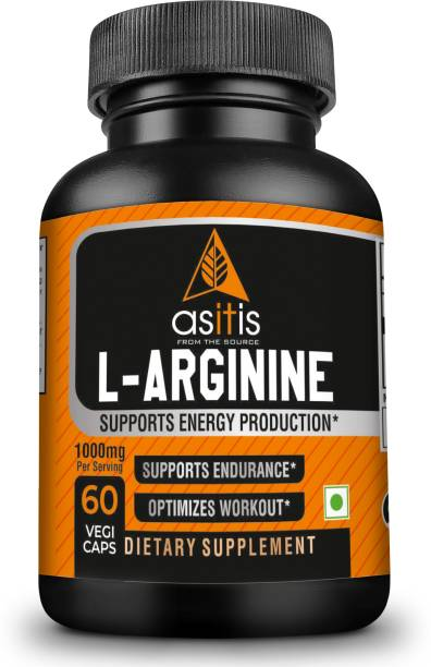 AS-IT-IS Nutrition L-Arginine 1000mg per serving, 30 servings |60 Capsules| Zero Fillers| LabTested