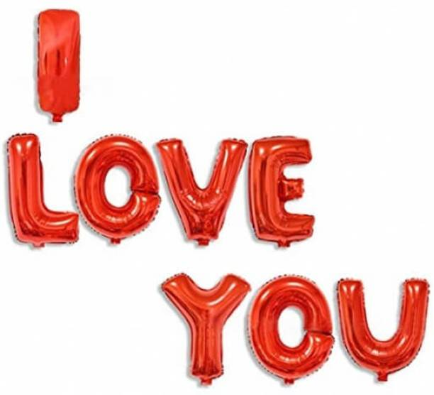 Riit Solid I Love You Foil Balloons Letter Balloon