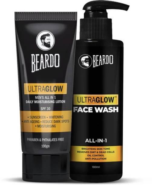 BEARDO Ultraglow Lotion & Ultraglow Facewash Combo