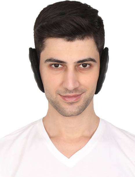 FabSeasons Headwear Faux Fur Ear Muffs / Ear Warmers - Behind The Head Style Winter Earmuffs for Men, Pack of 2 Ear Muff