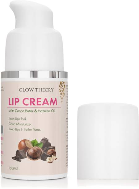 GLOW THEORY LipCream/Serum/Balm/Lightener/Moisturizer For Lip Lightening/Brightening/Toning/Moisturizing with Cocoa Butter , Hazelnut Oil & Hyaluronic Acid - 15 g cocoa butter and hazelnut oil