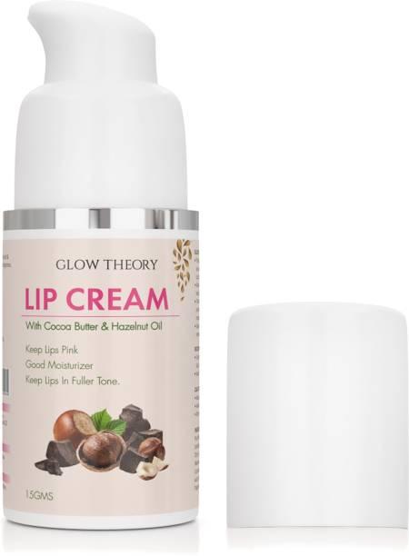 GLOW THEORY LipCream/Serum/Balm/Lightener/Moisturizer For Lip Lightening/Brightening/Toning/Moisturizing with Cocoa Butter , Hazelnut Oil & Hyaluronic Acid - 15 g cocoa butter and hazelnut oil