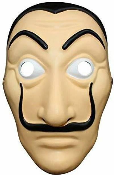 VK MART La Casa De Papel Mask Money Heist Salvador Dali Face Mask Party Mask