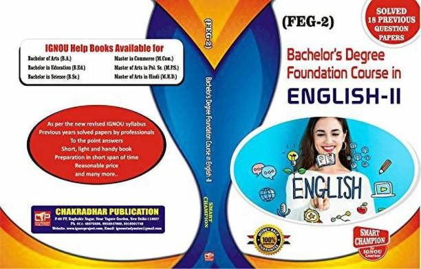 IGNOU FEG-2 FOUNDATION COURSE IN ENGLISH-II BASED ON For IGNOU Exam With Previous Year Solved Papers, Feg 2