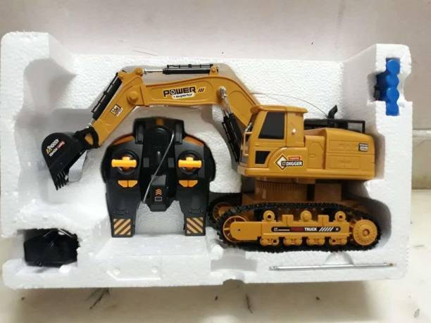 latest radhe JCB Excavator Bulldozer Superior Construction Vehicle Tuck Toy (Yellow)