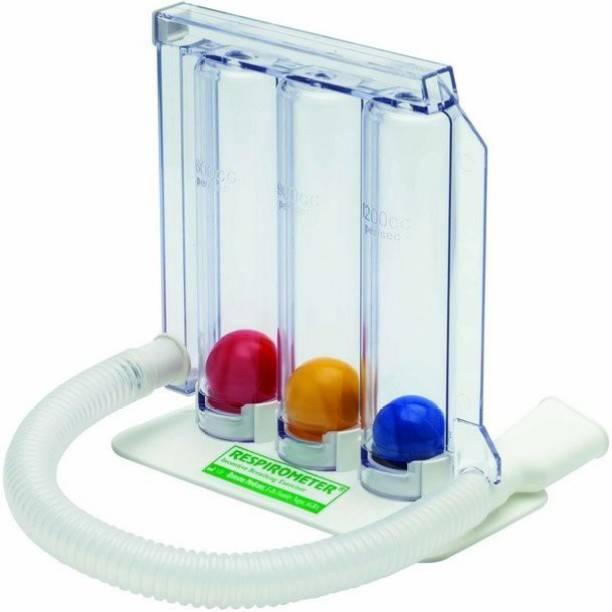 Radik Spirometer/ Respirometer/ 3-Ball Exerciser/ Lung Exerciser 3-Ball spirometer Respiratory Exerciser (Pack of 1) Breath Test