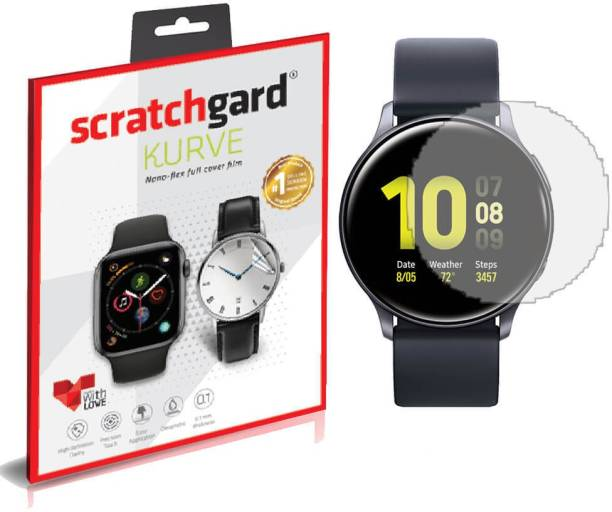Scratchgard Impossible Screen Guard for Samsung Galaxy Watch Active2 40mm, Flexible Film