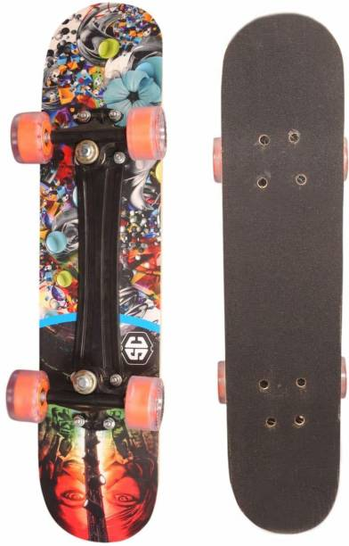 Smartcraft Fiber skateboard Specially designed with Grip Tape and Length of 27 Inches X 6.5 Inches width (Dreamer) 6 inch x 6 inch Skateboard